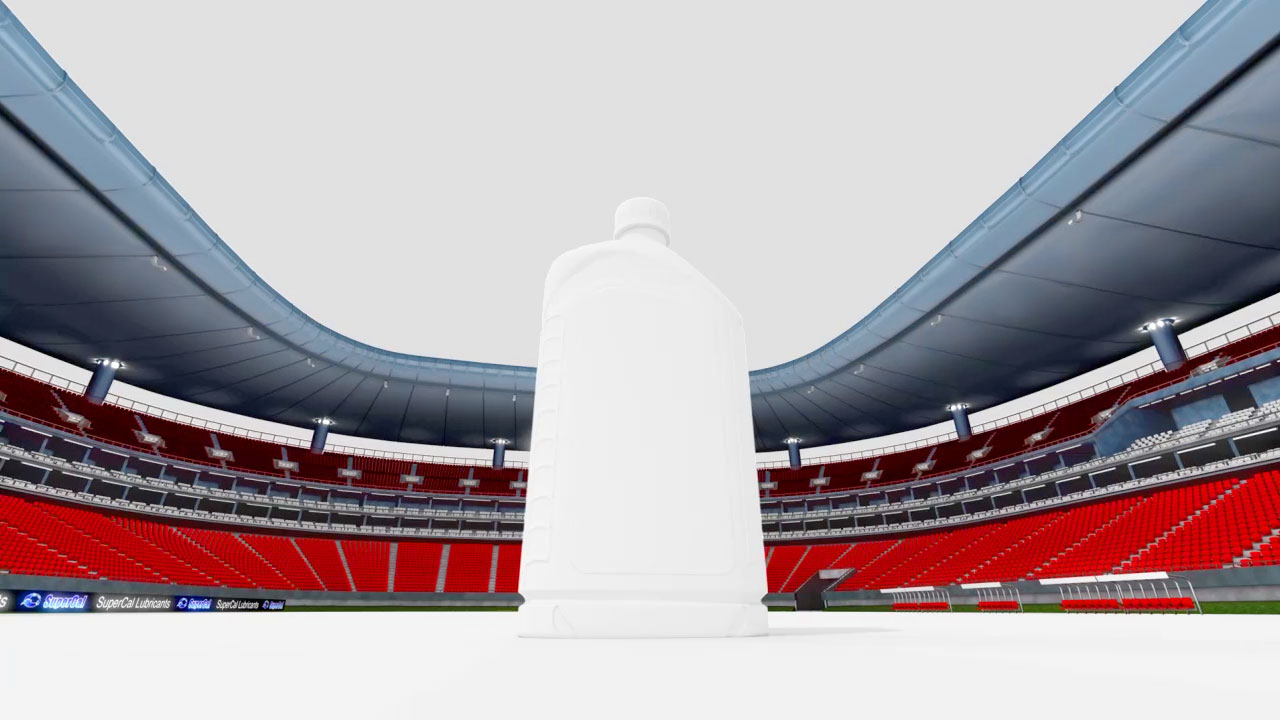 The featured image represents a draft version of the 3D visualization for the Estadio Omnilife soccer arena produced by EKADOO.com
