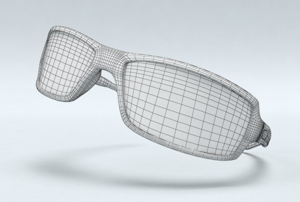 The featured image represents 3D product visualization services provided by EKADOO.com for a reverse engineering project of Glasses.com