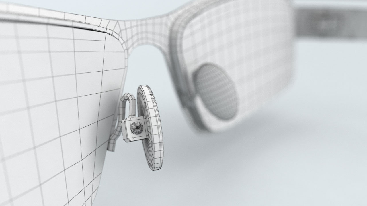 The polygonal model image represents 3D product visualization services provided by EKADOO.com as a part of reverse engineering project