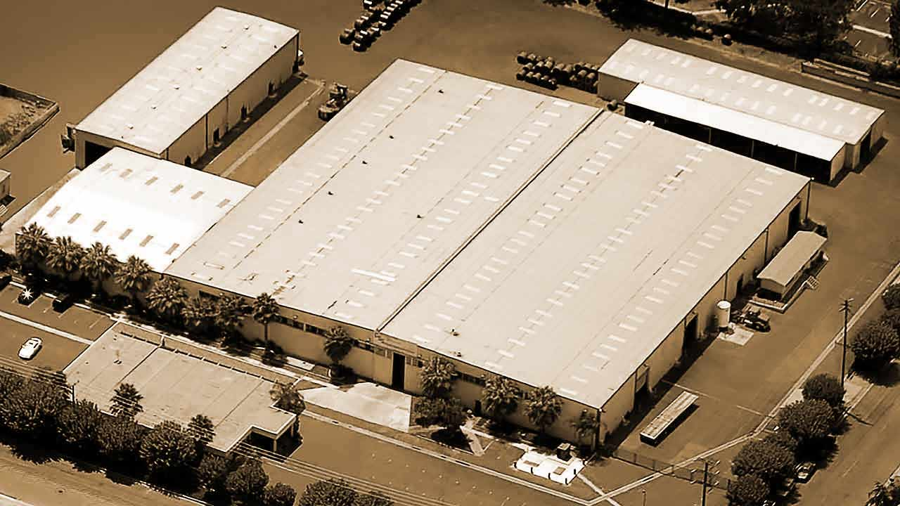 Rebranding - company warehouse aerial view