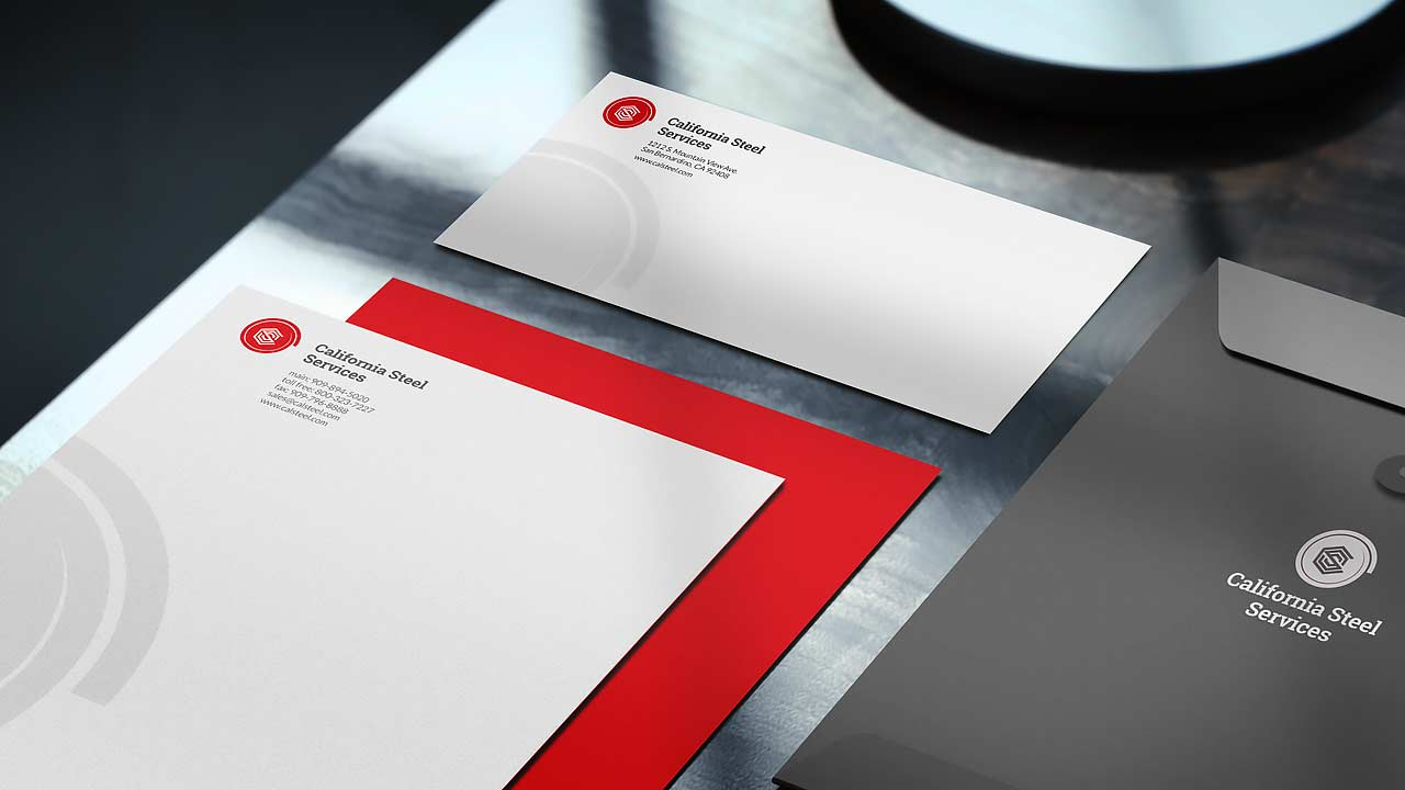 Corporate identity new letterhead envelope design