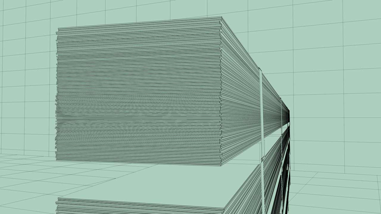 3D product visualization wireframe brochure