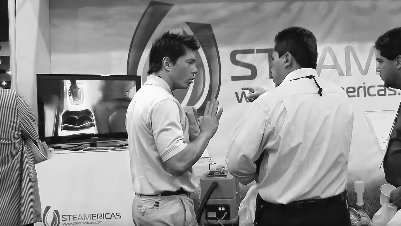 Steamericas at the car wash show